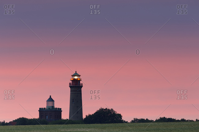 Germany- Mecklenburg-Western Pomerania- Rugen- Schinkel tower and the new lighthouse near Kap Arkona