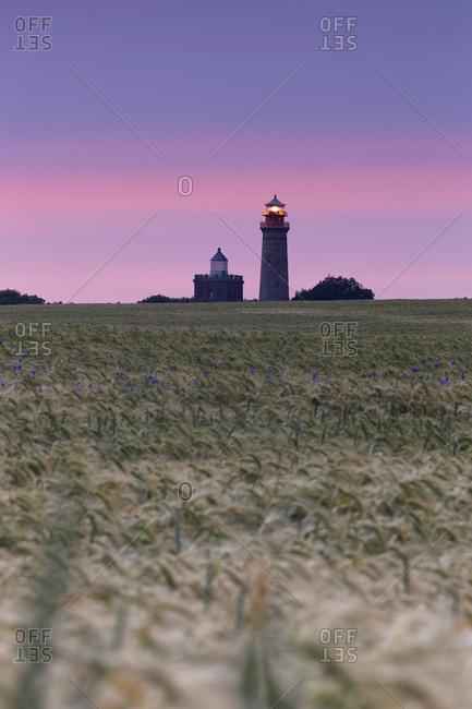 Germany- Mecklenburg-Western Pomerania- Rugen- Schinkel tower and the new lighthouse near Kap Arkona