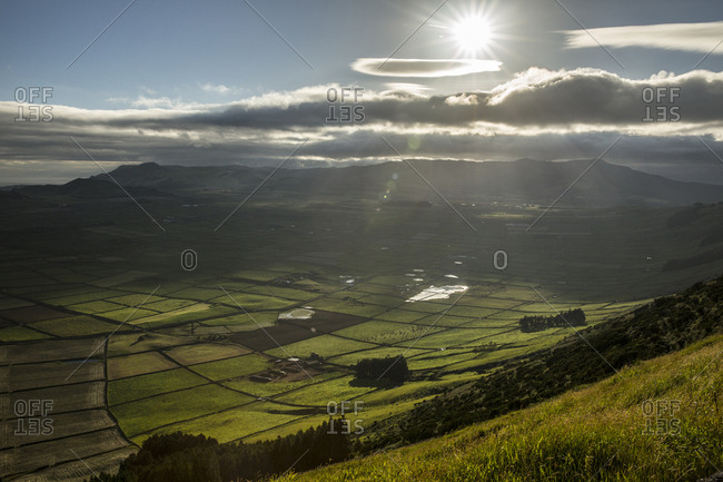 View of cultivated fields from Serra do Cume