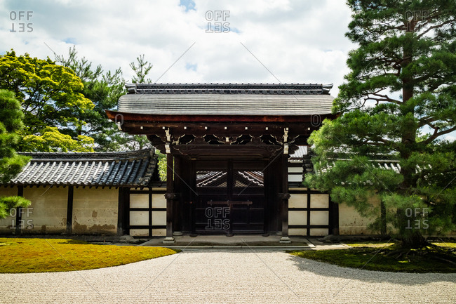 Japanese temple building in Kyoto