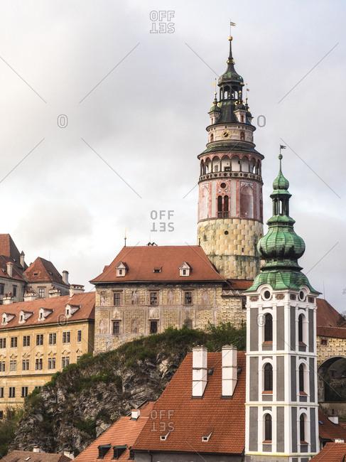 Czech Republic, Chesky Krumlov. View of Chesky Krumlov and Krumlov castle