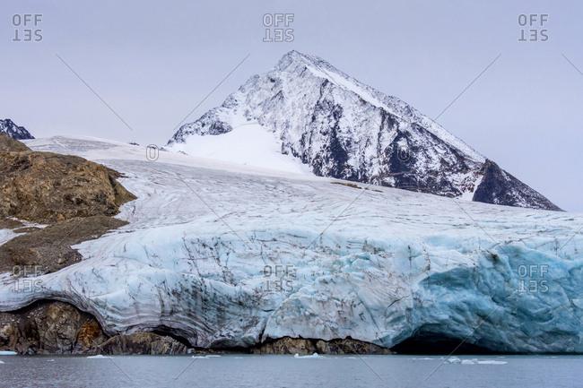 Greenland. East Greenland. Liverpool Land. Warming Island. 'Dead' glacier - no longer advancing