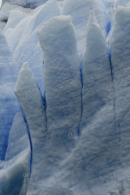 Pattern of blue ice, Grey Glacier, Gray Lake, Torres del Paine National Park, Chile, Patagonia