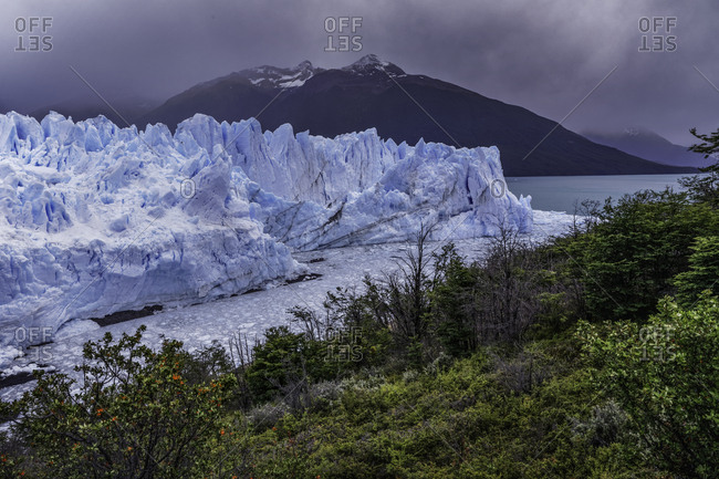 Perito Moreno Glacier, Los Glaciares National Park, Argentina. Fed by the Southern Patagonian Ice Field and is the worlds third largest reserve of fresh water. Named after explorer Francisco Moreno
