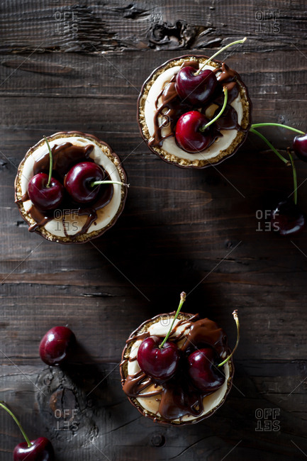 Cherry Smores Mini Pies