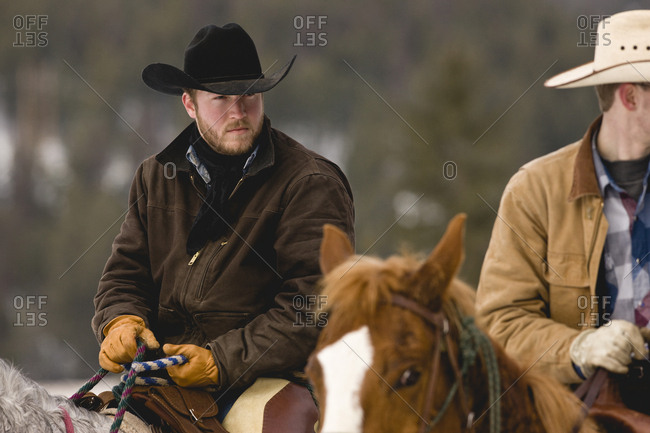 Two men on horseback