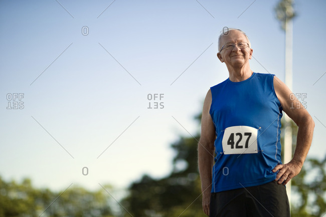 A senior competitor in an athletic event