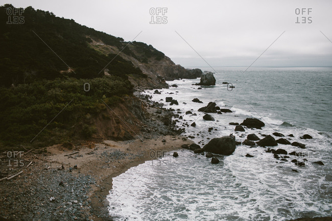 Northern California coast with rocks