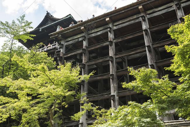 KYOTO, JAPAN - July 19, 2016: Butai (stage) of Kiyomizudera Buddhist temple in eastern Kyoto