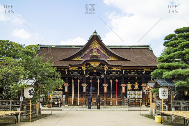 KYOTO, JAPAN - July 19, 2016: Kitano tenmangu shinto shrine in Kyoto, Japan