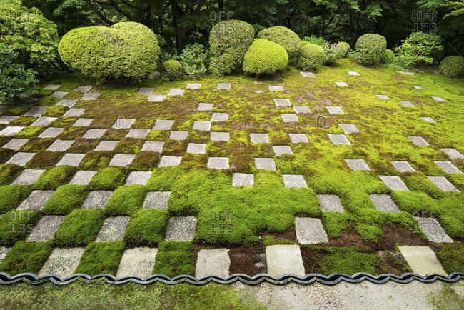 The northern garden of Tofukuji buddhist temple in Kyoto, Japan