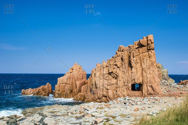 Beach of Rocce Rosse, Arbatax, Sardinia, Italy, Mediterranean, Europe