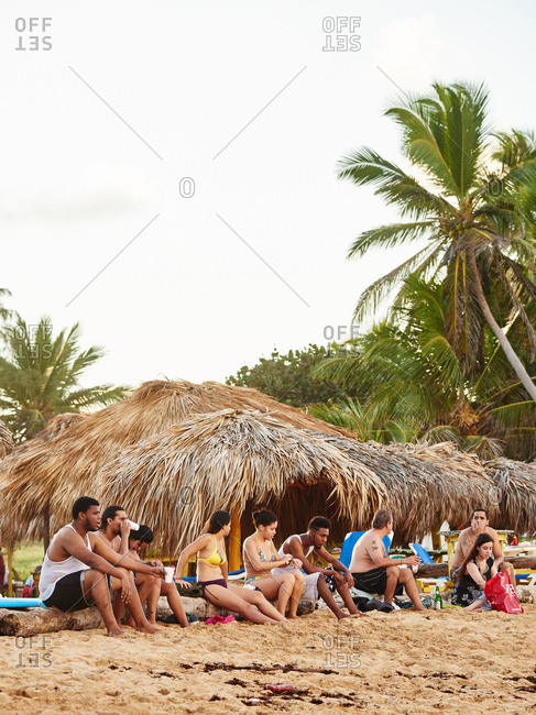 January 9, 2016 - Macao Beach, Dominican Republic: Group of people on beach