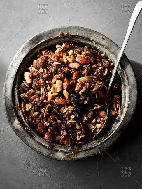 Bowl with roasted nuts