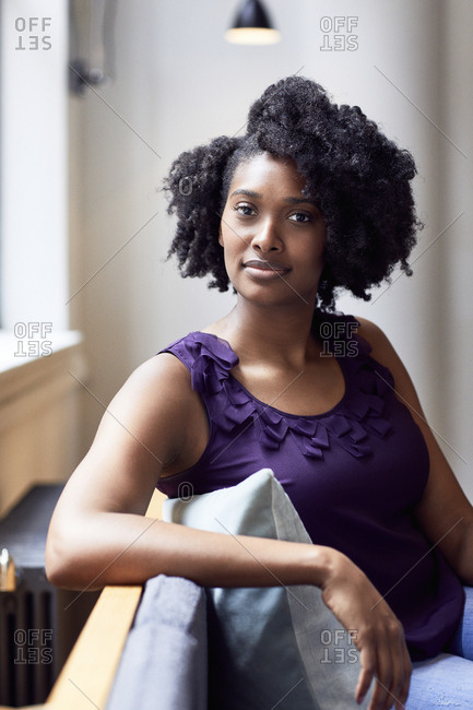 Portrait of confident businesswoman sitting in office