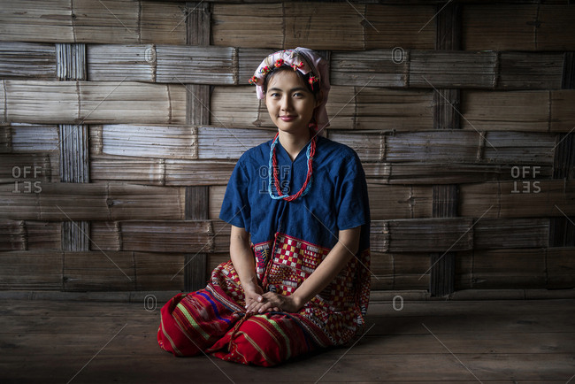 Young Thai woman in traditional clothing