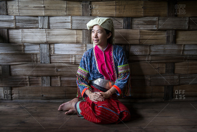A Thai woman in traditional clothing