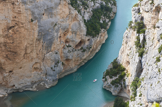 High angle view, Canyon du Verdon, Provence, France