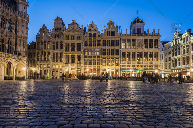 Brussels, Belgium - March 23, 2017: Grand Place by night