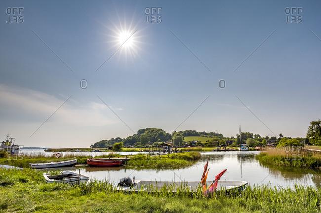Baabe, Germany - May 24, 2016:  Lake Sellin, Rugen Island, Mecklenburg-Western Pomerania
