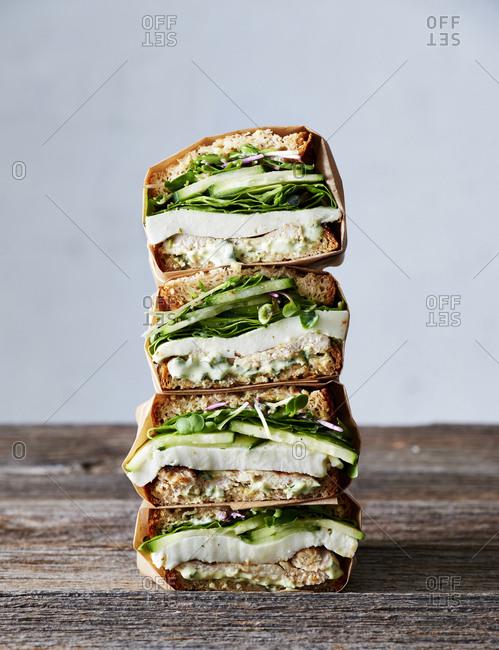 Green Goddess Chicken Sandwiches
