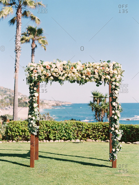 Wedding arch overlooking ocean