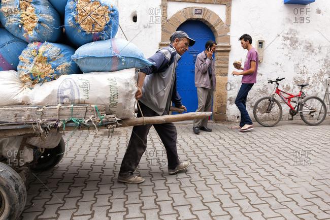 Essaouira,  Essaouira, Morocco - May 29, 2015: Street Life Of Essaouira In Morocco
