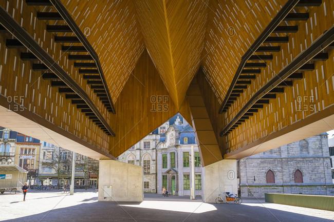Gent, Vlaanderen, Belgium - April 10, 2016: Stadshal, City Pavilion, Ghent, Belgium