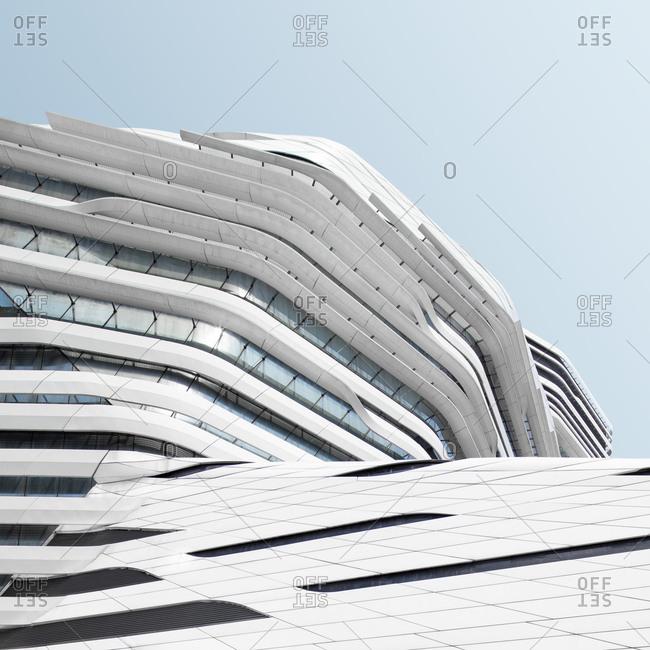 Hong Kong, China - April 7, 2017: Exterior of The Jockey Club Innovation Tower