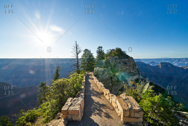 Entrance to a lookout point on the North Rim of the Grand Canyon, Arizona