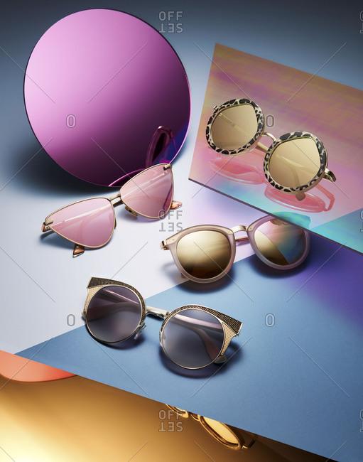 Brooklyn, New York 2016: Variety of stylish sunglasses