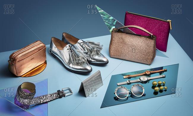 Brooklyn, New York 2016: Variety of stylish fashion accessories