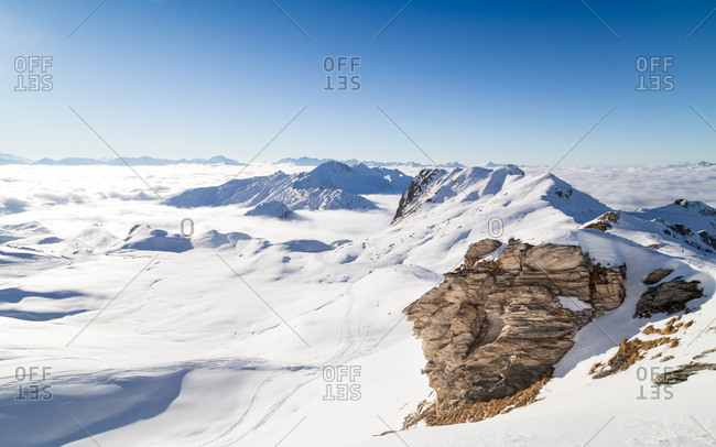 A panorama of the French Alps