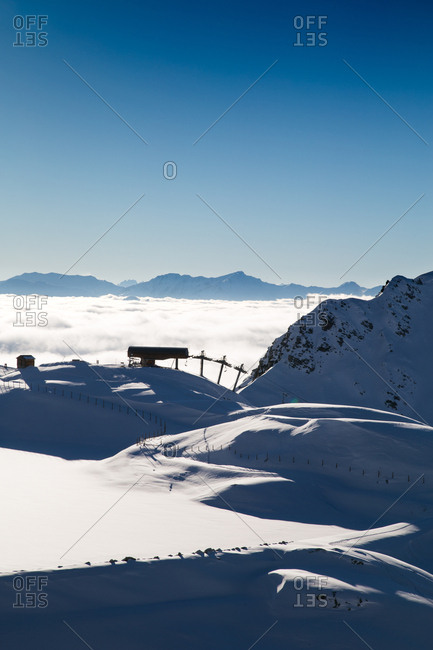 A ski lift in the French Alps