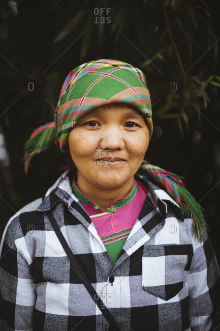 April 25, 2017: A portrait of Song, a 40-year-old Hmong woman from Y Linh Ho village, outside of Sapa in northern Vietnam.