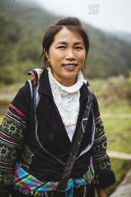 April 25, 2017: A portrait of Ly Mai, 35, a Hmong trekking guide from Lao Chai in northern Vietnam.