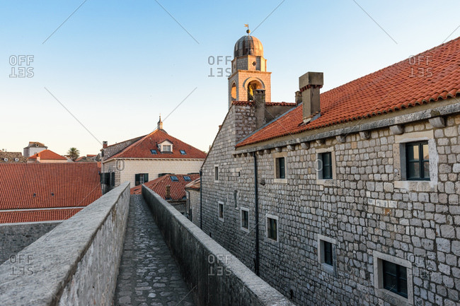 Stone walkway through Dubrovnik, Croatia