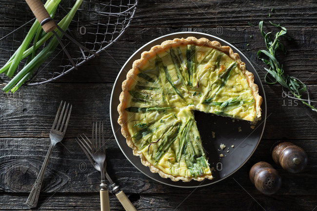 Green Onion and Tarragon Quiche