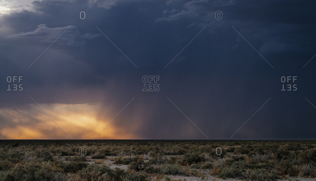 A stormy sky in Etosha National Park.