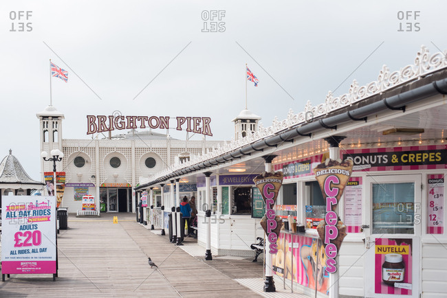 Brighton, England - May 4, 2017: A view of Palace Pier
