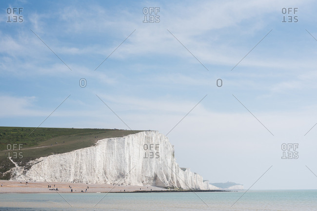 Seven Sisters cliffs in England