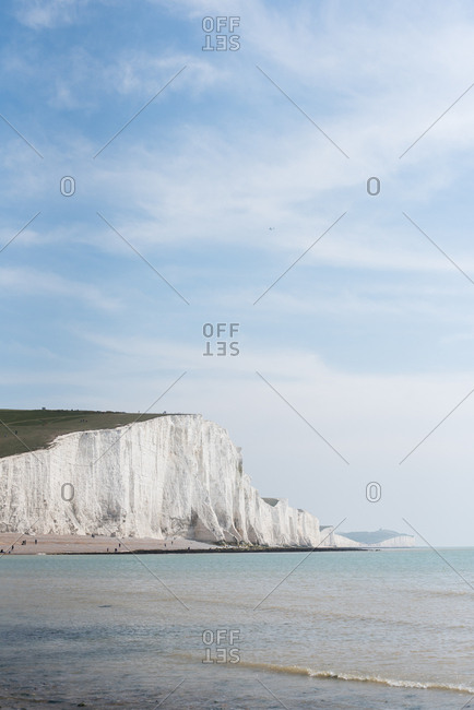 Seven Sisters cliffs in Sussex, England
