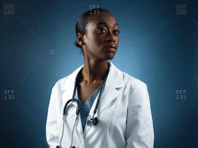 Female healthcare professional in portrait