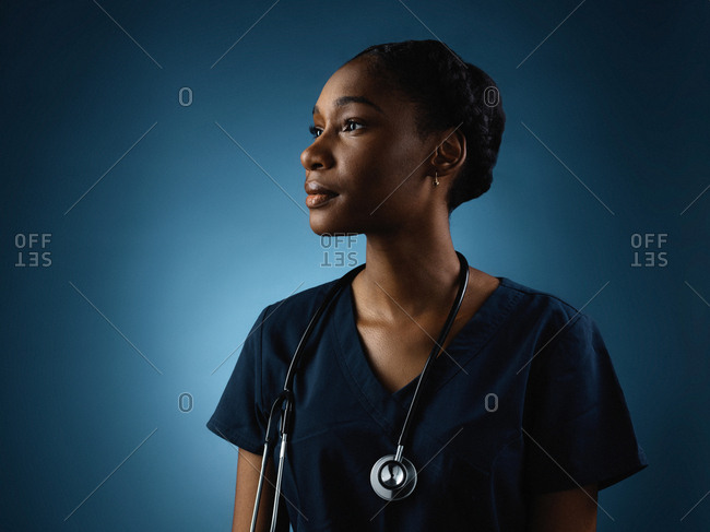 A female health worker in portrait