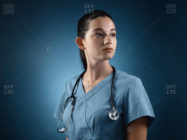 A healthcare professional in portrait