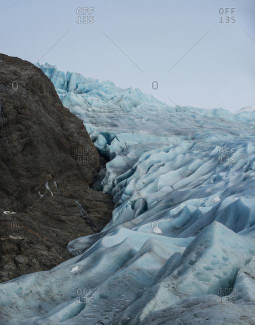 Scenic view of Mendenhall Glacier