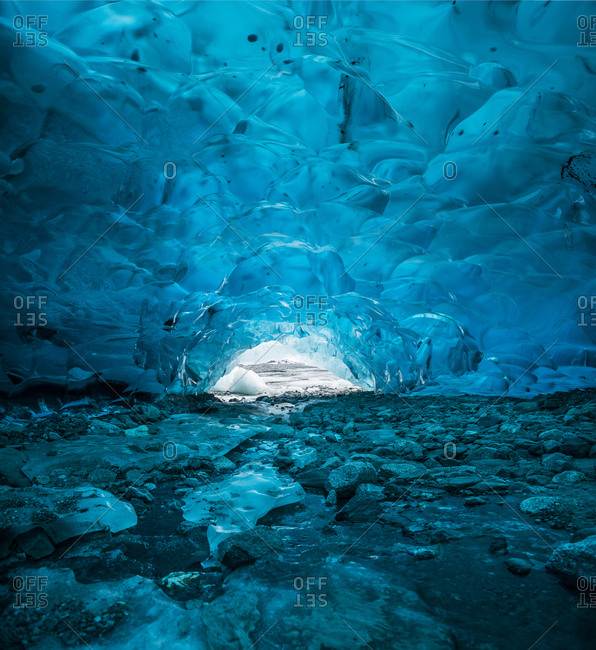 Tranquil view of Mendenhall Glacier Ice Cave
