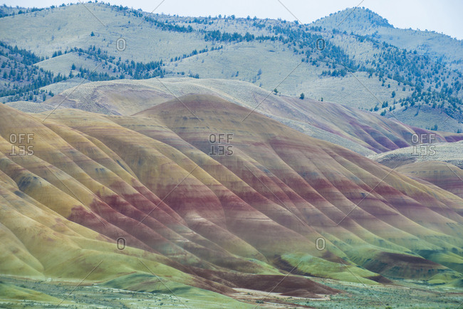 Scenic view of John Day Fossil Beds National Park