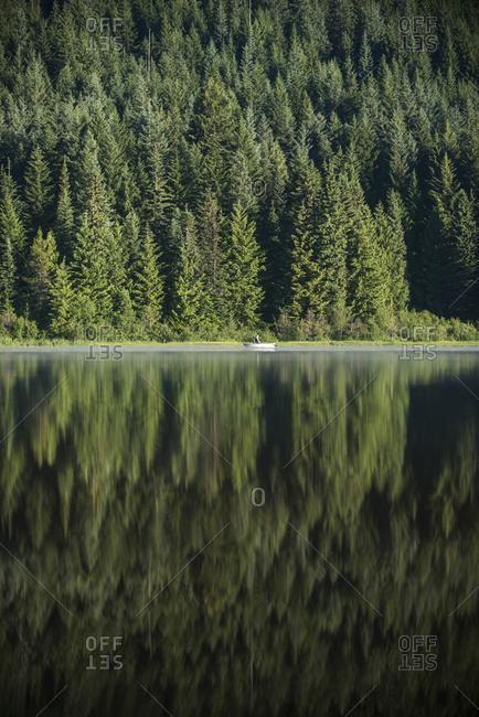 Scenic view of Trillium Lake