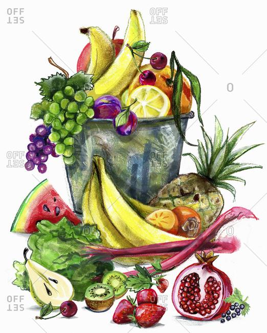Variation of fresh fruit